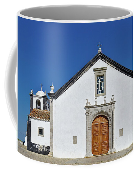 Old Coffee Mug featuring the photograph Church Of Cacela Velha In Portugal by Angelo DeVal