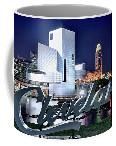 Cleveland Coffee Mug featuring the photograph Cleveland Ohio 2019 by Frozen in Time Fine Art Photography