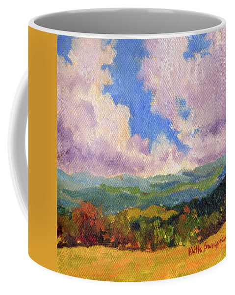 Impressionism Coffee Mug featuring the painting Cloudscape 1 by Keith Burgess