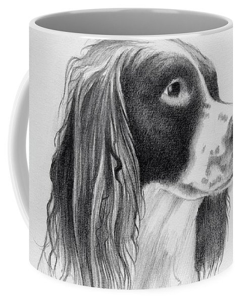 Coco Coffee Mug featuring the drawing Coco by Ashley Jennings