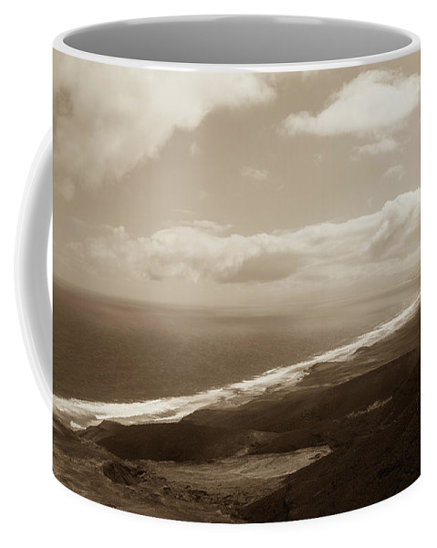 Landscape Coffee Mug featuring the photograph Cofete Beach by Eliza Spatar