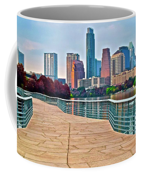 Austin Coffee Mug featuring the photograph Come To Austin Texas by Frozen in Time Fine Art Photography