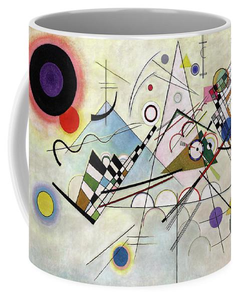 Kandinsky Composition Coffee Mug featuring the painting Composition 8 - Komposition 8 by Wassily Kandinsky