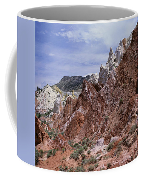 Utah Coffee Mug featuring the photograph Cottonwood Spires 1-sq by Tom Daniel