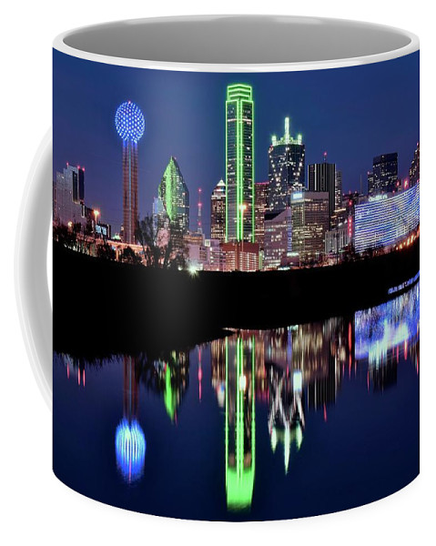 Dallas Coffee Mug featuring the photograph Cowboy Blue In The Lone Star State by Frozen in Time Fine Art Photography
