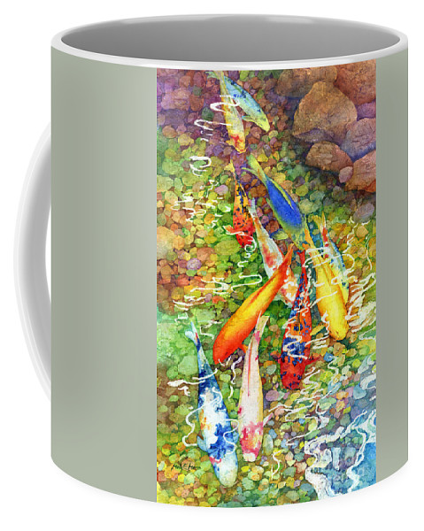 Watercolor Coffee Mug featuring the painting Coy Koi by Hailey E Herrera