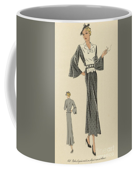 Fashion Coffee Mug featuring the painting Creations De Haute Couture by Anonymous