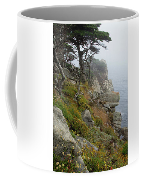 California Coffee Mug featuring the photograph Cypress Cliff by Marie Leslie