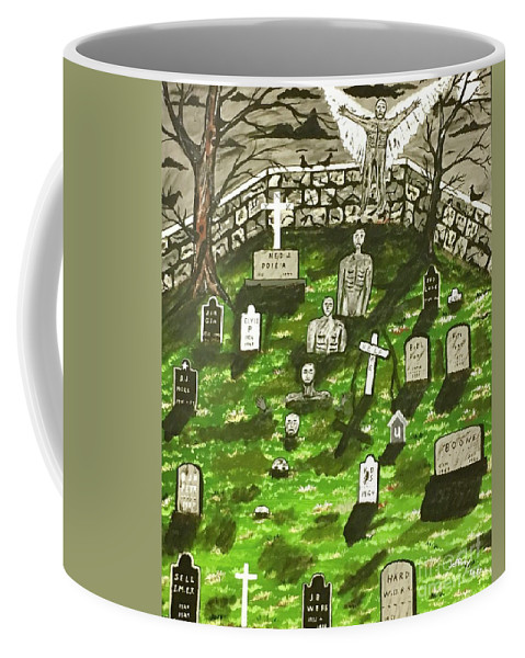 Angels Coffee Mug featuring the painting Dark Angel Of The Night by Jeffrey Koss
