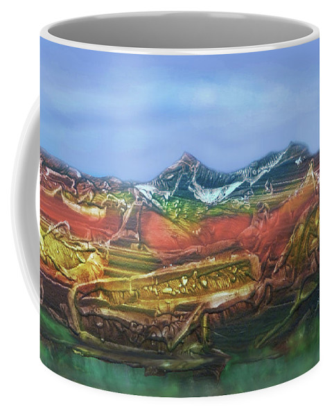 Otto Rapp Coffee Mug featuring the digital art Decalcomania 2019-05-21 by Otto Rapp