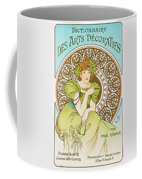 Alfons Maria Mucha Coffee Mug featuring the painting Decorative Art Dictionary - Digital Remastered Edition by Alfons Maria Mucha