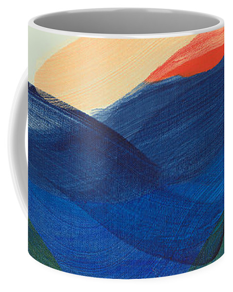 Abstract Coffee Mug featuring the painting Deep Sleep Undone by Claire Desjardins