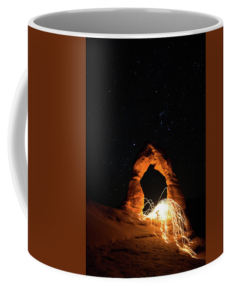 Delicate Arch Coffee Mug featuring the photograph Delicate Arch Steel Wool by Nathan Bush