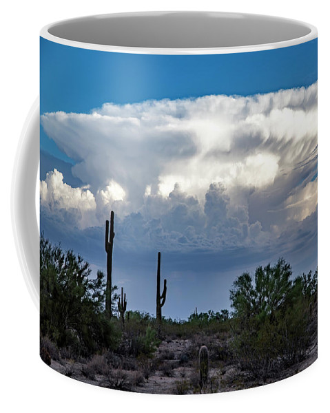 Arizona Coffee Mug featuring the photograph Portait Of A Thunderstorm by Cathy Franklin