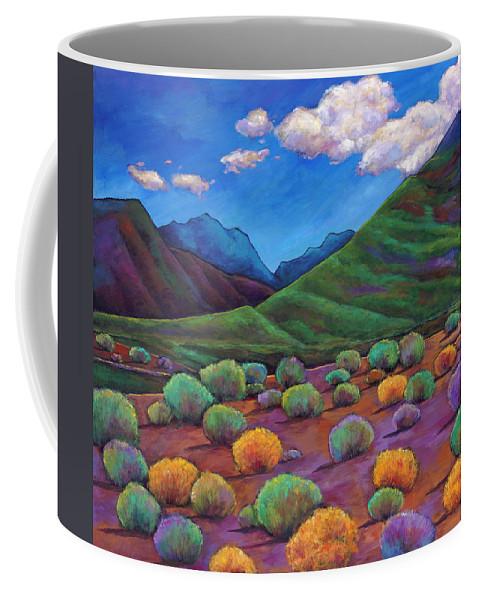 Arizona Coffee Mug featuring the painting Desert Valley by Johnathan Harris