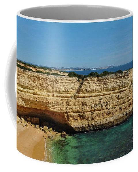 Deserta Coffee Mug featuring the photograph Deserta Beach Scene In Algarve by Angelo DeVal