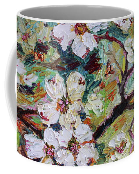 Dogwood Coffee Mug featuring the painting Dogwood Blossoms Oil Painting by Ginette Callaway