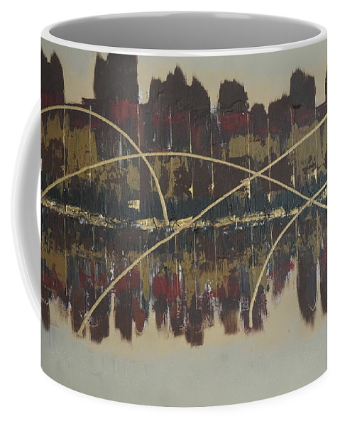 Jimmy Clark+art Coffee Mug featuring the painting Downtown Abbey by Jimmy Clark
