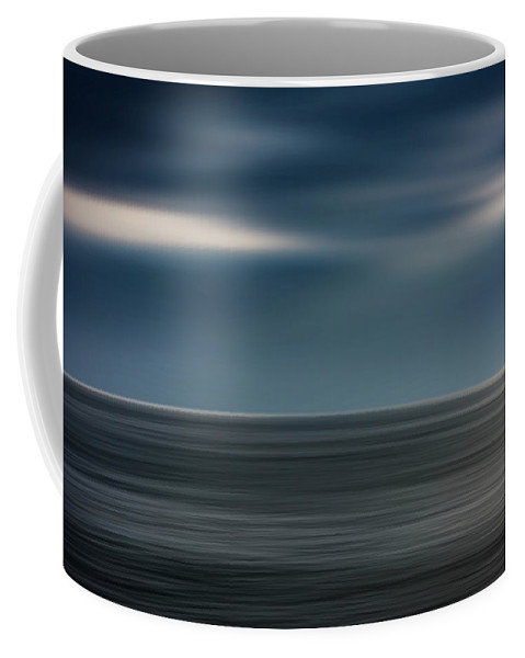 Photography Coffee Mug featuring the photograph Dusk Stormy At Sea by Vicente Sargues