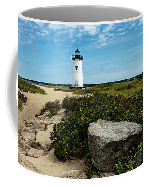 Edgartown Lighthouse Marthas Vineyard Coffee Mug featuring the photograph Edgartown Lighthouse Marthas Vineyard by Michelle Constantine