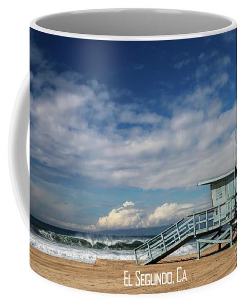 El Segundo Beach Coffee Mug featuring the photograph El Segundo Beach by Sarah Ainsworth