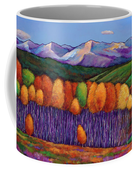 Aspen Trees Coffee Mug featuring the painting Elysian by Johnathan Harris