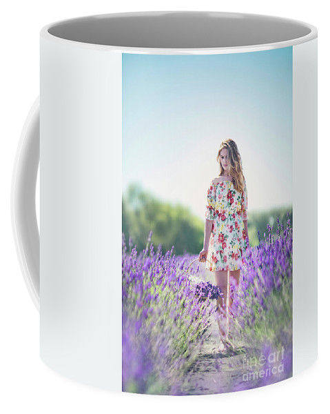 Kremsdorf Coffee Mug featuring the photograph Embraced In Lavender by Evelina Kremsdorf