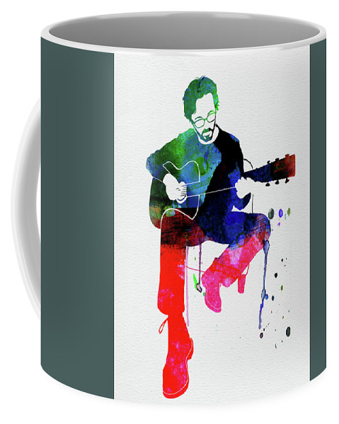 Eric Clapton Coffee Mug featuring the mixed media Eric Clapton Watercolor by Naxart Studio