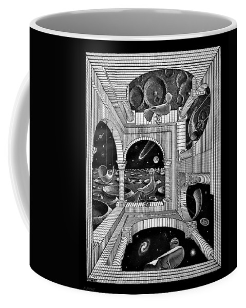 Maurits Cornelis Escher Coffee Mug featuring the photograph Escher 133 by Rob Hans