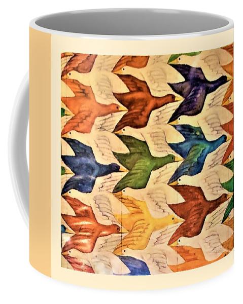 Maurits Cornelis Escher Coffee Mug featuring the photograph Escher 182 by Rob Hans