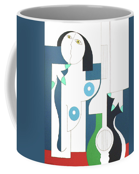 Women Coffee Mug featuring the painting Etude by Hildegarde Handsaeme