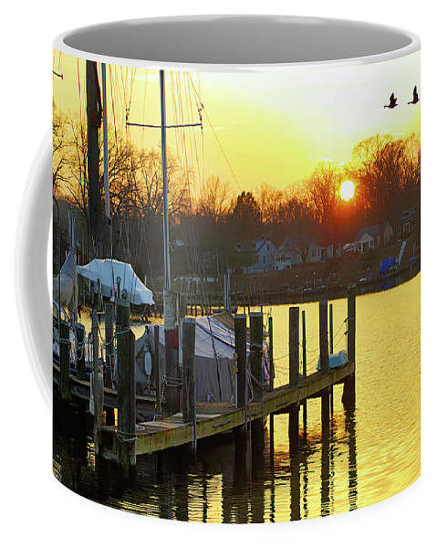 2d Coffee Mug featuring the photograph Evening Light Bidding Goodnight by Brian Wallace