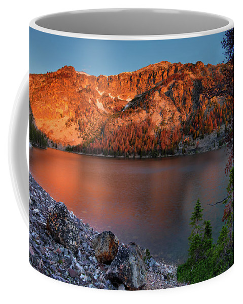 Idaho Scenics Coffee Mug featuring the photograph Everson Lake by Leland D Howard