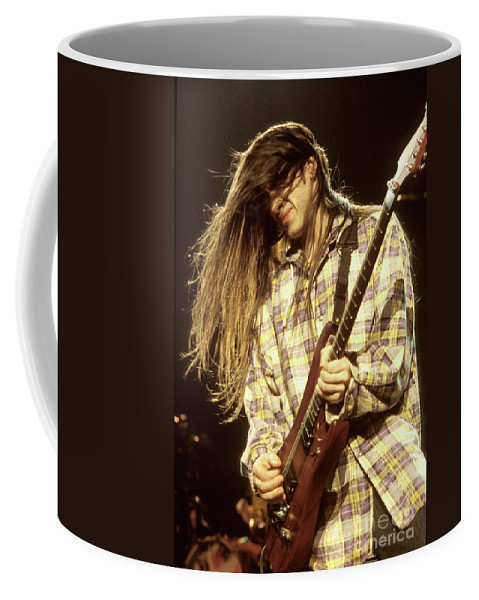 Extreme Coffee Mug featuring the photograph Extreme Guitarist Nuno Bettencourt by Concert Photos