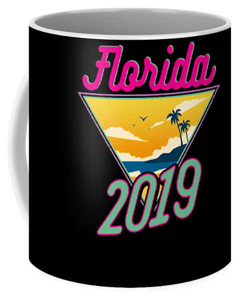 Family Coffee Mug featuring the drawing Family Vacation 2019 Florida by Kanig Designs