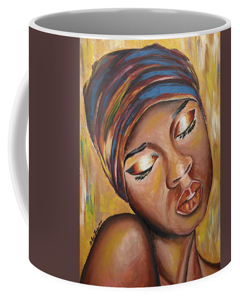 Lady Coffee Mug featuring the painting Feeling Some Type of Way by Anitra Frazier