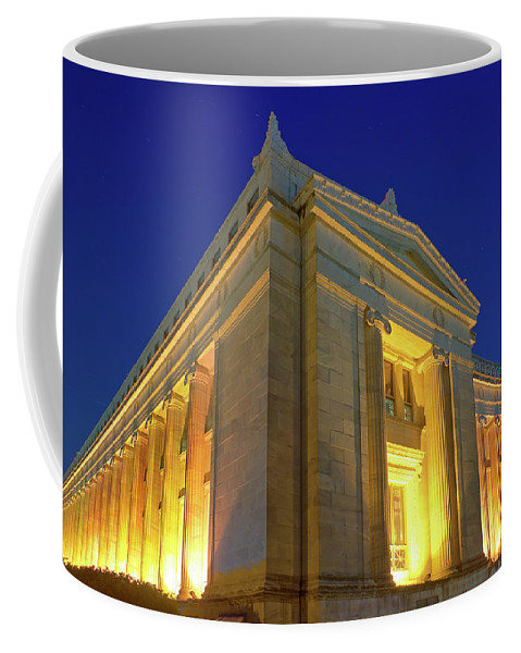 Architecture Coffee Mug featuring the photograph Field Museum Evening by Kevin Eatinger