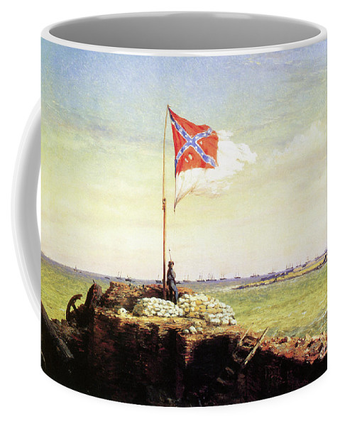 1863 Coffee Mug featuring the painting Flag Of Fort Sumter by Conrad Wise Chapman