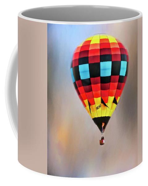 Fine Art Photography Coffee Mug featuring the photograph Flight of Fantasy, Hot Air Balloon by Zayne Diamond Photographic
