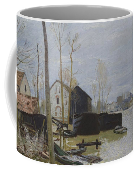 Alfred Sisley Coffee Mug featuring the painting Flooding At Moret, 1889 by Alfred Sisley