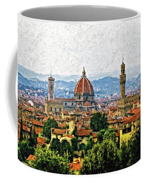 Florence Coffee Mug featuring the photograph Florence Impasto by Steve Harrington