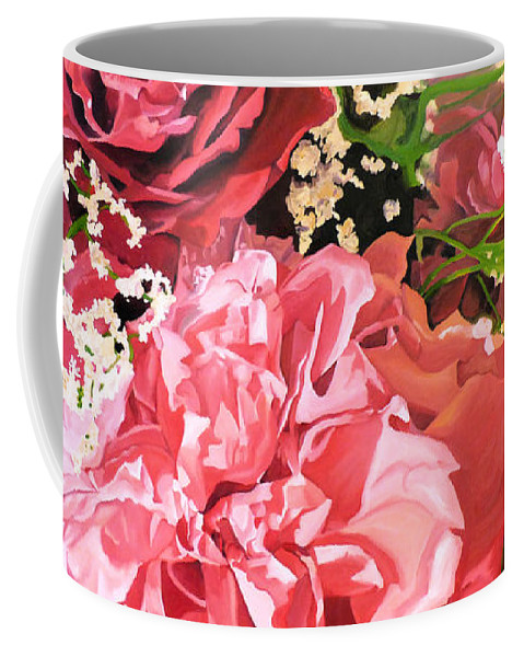 Flower Coffee Mug featuring the painting Flowers For Cynthia by Brittany Bert Selfe