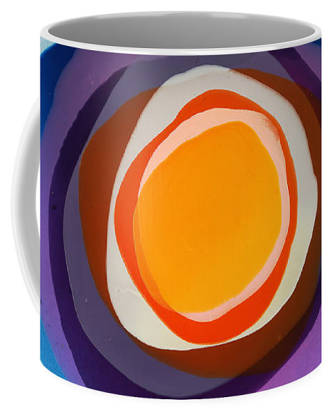 Abstract Coffee Mug featuring the painting Focussed by Claire Desjardins