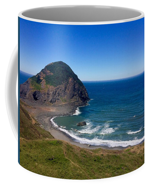 Oregon Coffee Mug featuring the photograph Frankport by Dawn Celeste