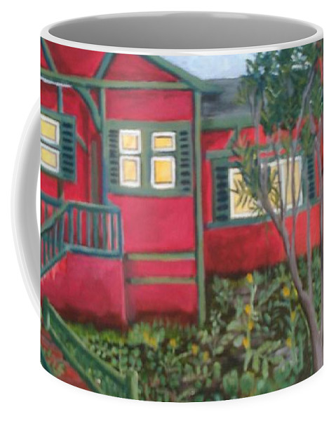 Painting Of House Coffee Mug featuring the painting Fresh yard by Andrew Johnson