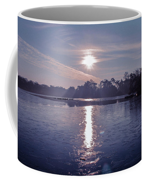 Lake Coffee Mug featuring the photograph Frozen by Claire Lowe
