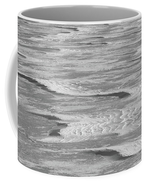 Winter Coffee Mug featuring the photograph Frozen Waves by Marie Leslie