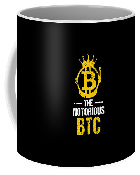 Hodl Coffee Mug featuring the drawing Funny The Notorious Btc Bitcoin Crypto by The Perfect Presents