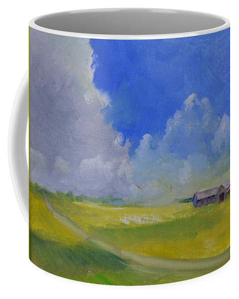Oil Coffee Mug featuring the painting Gallrein by Roger Snell
