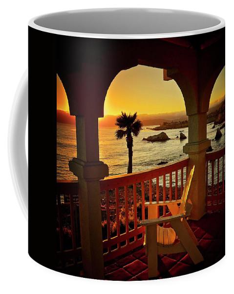 Nature Coffee Mug featuring the photograph Gazebo View of Central California Coast by Zayne Diamond Photographic